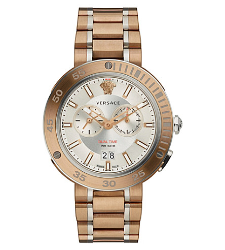 VERSACE V-Extreme bronze IP stainless steel watch