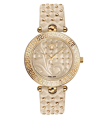 VERSACE VK702 0013 Vanitas stainless steel watch (Beige
