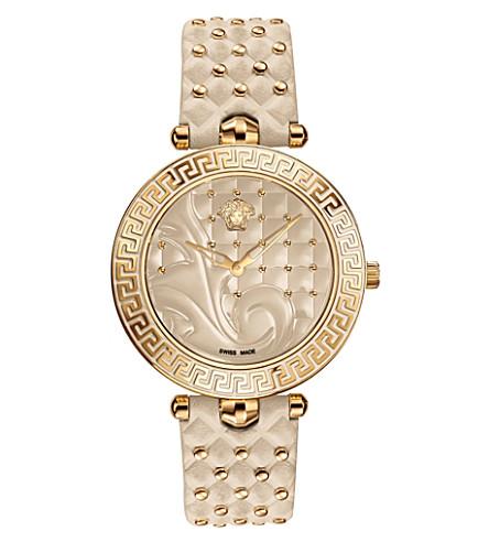 VERSACE VK702 0013 Vanitas stainless steel watch (Beige