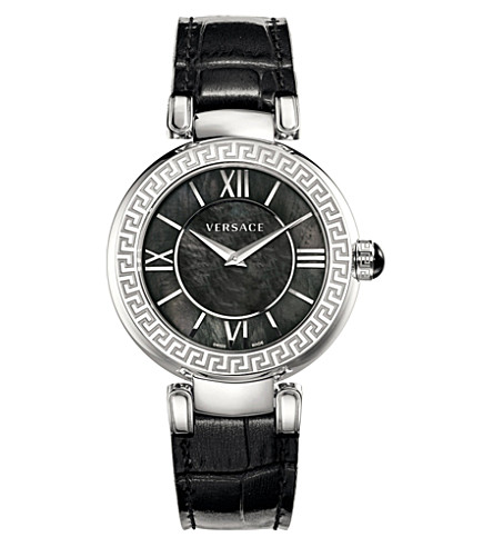 VERSACE VNC01 0014 Leda stainless steel watch (Black