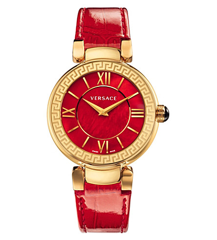 VERSACE VNC14 0014 Leda stainless steel watch (Red