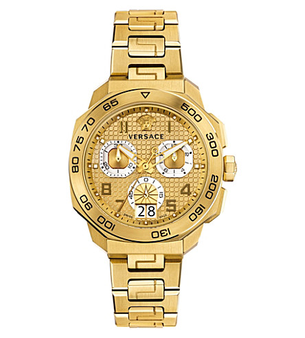 VERSACE VQC040015 Dylos yellow gold-toned watch (Gold