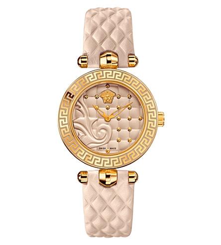 VERSACE VQM04 0015 Vanitas leather watch (Cream