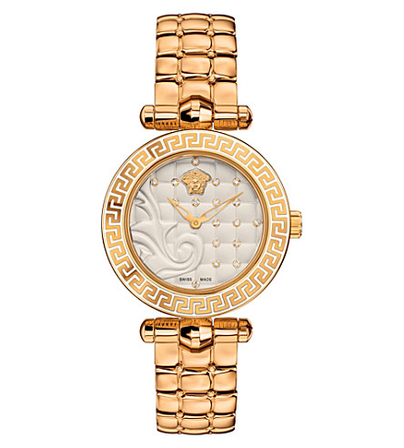 VERSACE VQM120016 Micro Vanitas gold-plated ceramic watch