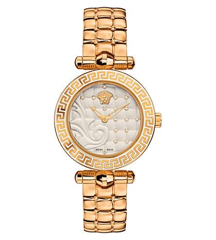 VERSACE VQM120016 微 Vanitas 镀金陶瓷手表