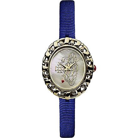 VIVIENNE WESTWOOD Rococo logo blue ladies' watch (Cream