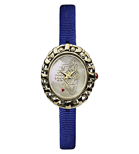 VIVIENNE WESTWOOD VV005CMBL Rococo yellow gold-toned and mother-of-pearl watch (Cream