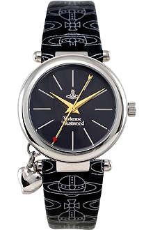 VIVIENNE WESTWOOD Orb logo strap black watch