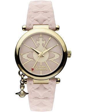 VIVIENNE WESTWOOD VV006PKPK gold-toned leather watch