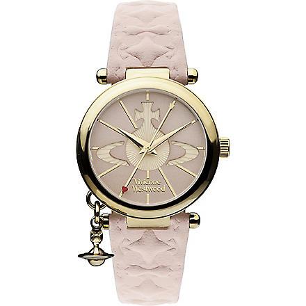 VIVIENNE WESTWOOD VV006PKPK gold-toned leather watch (Pink