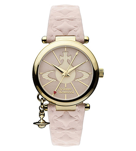 VIVIENNE WESTWOOD VV006PKPK gold-toned leather watch (Pink