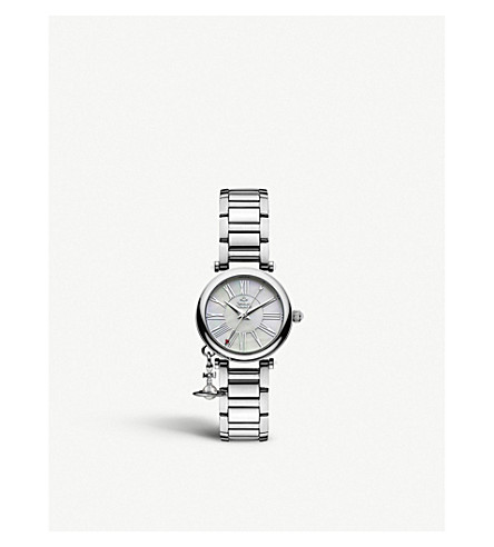 VIVIENNE WESTWOOD VV006PSLSL Mother Orb stainless steel watch (Silver