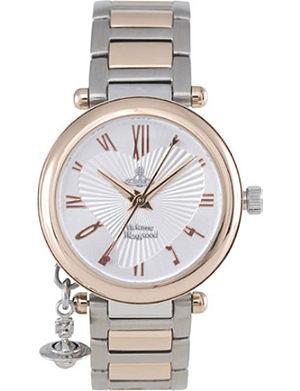 VIVIENNE WESTWOOD Orb rose gold and silver ladies' watch