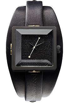 VIVIENNE WESTWOOD VV008MBKBK cube stainless steel watch
