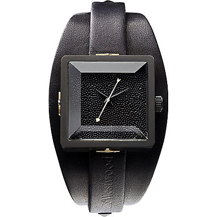 VIVIENNE WESTWOOD VV008MBKBK cube stainless steel watch (Black