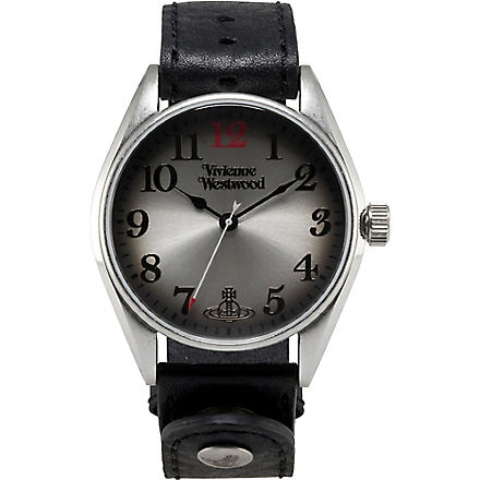 VIVIENNE WESTWOOD Heritage oversized black men's watch (Silver