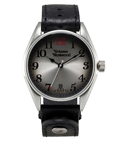 VIVIENNE WESTWOOD Heritage oversized black men's watch (Silver