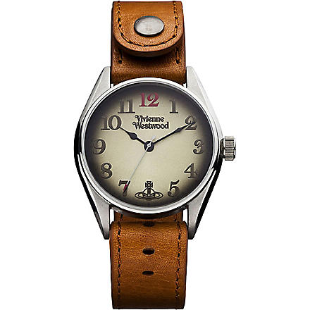 VIVIENNE WESTWOOD VV012TN Heritage oversized tan men's watch (Gold