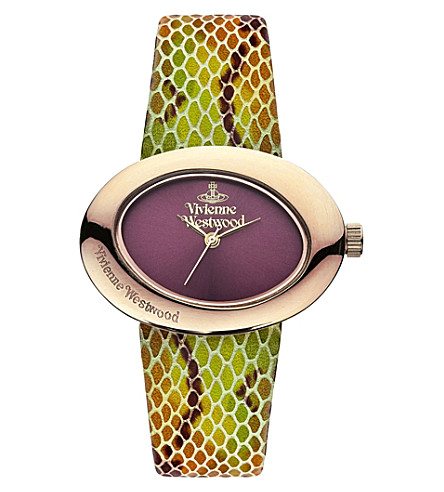 VIVIENNE WESTWOOD VV014RS Ellipse multi snake watch (Red
