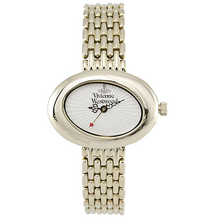 VIVIENNE WESTWOOD VV014WHGD Ellipse gold dress watch (White