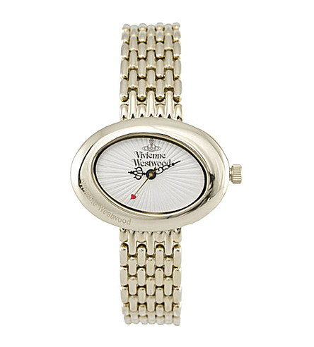 VIVIENNE WESTWOOD VV014WHGD Ellipse gold dress watch (White