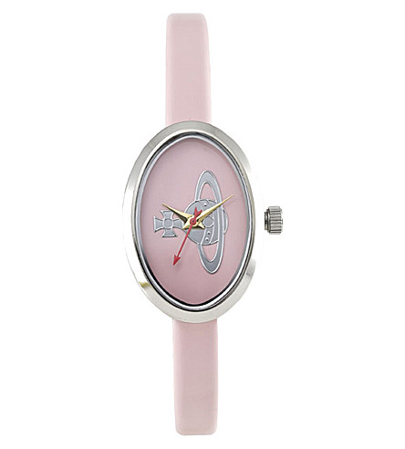 VIVIENNE WESTWOOD VV019LPK medal steel and leather watch (White