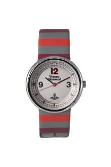 VIVIENNE WESTWOOD VV020GY Spirit red stripe unisex watch