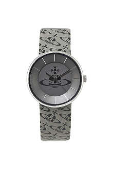 VIVIENNE WESTWOOD VV020SLBK Spirit Orb steel and leather unisex watch