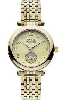 VIVIENNE WESTWOOD VV051CPGD gold-toned stainless steel watch