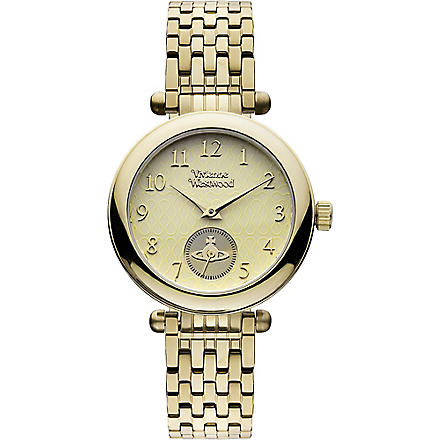 VIVIENNE WESTWOOD VV051CPGD gold-toned stainless steel watch (Gold