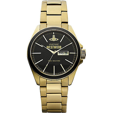 VIVIENNE WESTWOOD VV063GD gold-toned stainless steel watch (Black