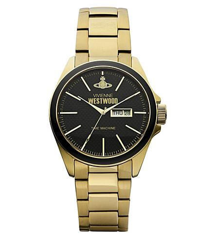VIVIENNE WESTWOOD VV063GD 金色色调的不锈钢腕表 (黑色