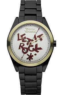 VIVIENNE WESTWOOD VV072GDBK unisex aluminium watch
