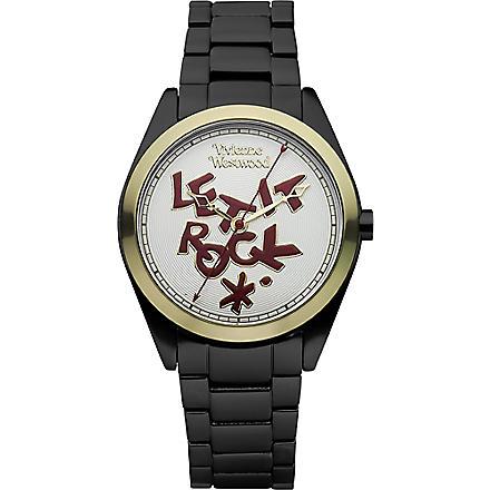 VIVIENNE WESTWOOD VV072GDBK unisex aluminium watch (White & pink