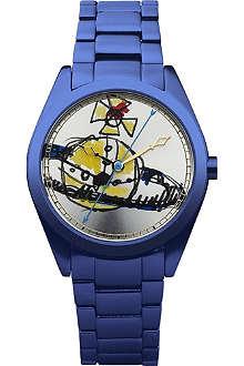 VIVIENNE WESTWOOD VV072SLNV unisex aluminium watch