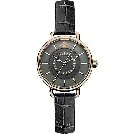VIVIENNE WESTWOOD VV076CHCH black round watch (Black