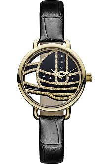 VIVIENNE WESTWOOD VV076GDBK black round watch