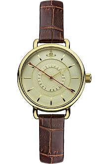 VIVIENNE WESTWOOD VV076GDBR gold round watch