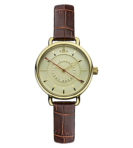 VIVIENNE WESTWOOD VV076GDBR gold round watch (Gold