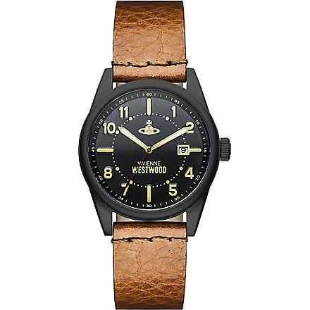VIVIENNE WESTWOOD VV079BKTN stainless steel round watch (Black