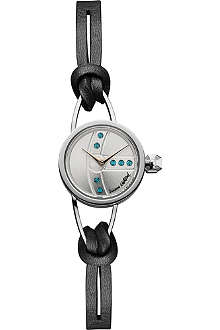 VIVIENNE WESTWOOD VV081SLBK Chancery steel and leather watch