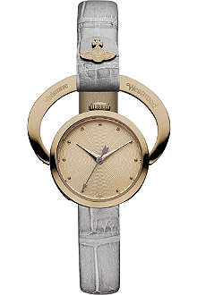 VIVIENNE WESTWOOD Engraved frame with rose-gold-dial watch