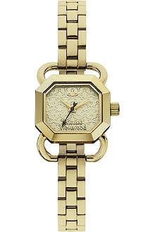 VIVIENNE WESTWOOD VV085GDBK Ravenscourt PVD gold-plated metal watch