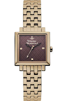 VIVIENNE WESTWOOD Square patterned-dial watch