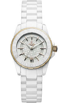 VIVIENNE WESTWOOD Engraved-edge patterned-dial watch