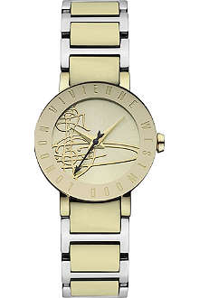 VIVIENNE WESTWOOD Engraved two-tone watch
