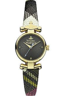 VIVIENNE WESTWOOD Tartan strap round watch
