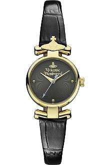 VIVIENNE WESTWOOD Croc strap round watch
