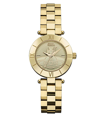 VIVIENNE WESTWOOD VV092CPGD Westbourne Orb gold-plated stainless steel watch