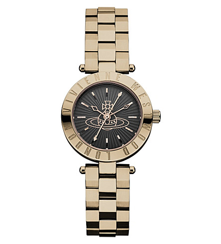 VIVIENNE WESTWOOD VV092RS Westbourne PVD rose gold-plated watch (Black